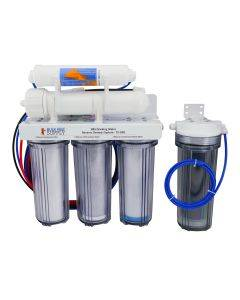 6 Stage 75GPD Drinking & Reef RO/DI System with Silver Faucet