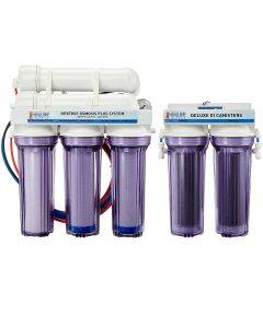 6 Stage Deluxe 200 GPD Water Saver RO/DI System - Bulk Reef Supply