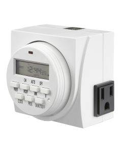 Dual Outlet Programmable Digital Timer