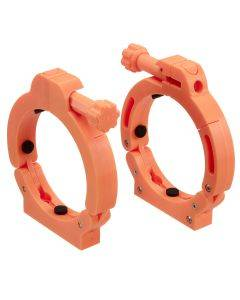 UV Sterilizer Mounting Clamps (2-Pack) - Orange