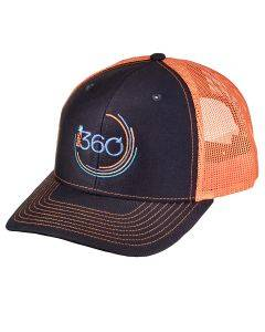 BRS 360 Hat - Navy/Orange