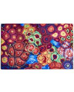 Space Chaos Garden Reef Art - 18 in. x 12 in. Canvas Print