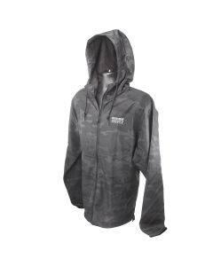 Zip-Up Black Camo Windbreaker Jacket