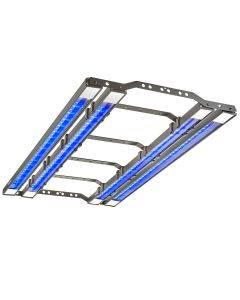 36 inch x series quad strip add on light kit - underside angle shot, lit