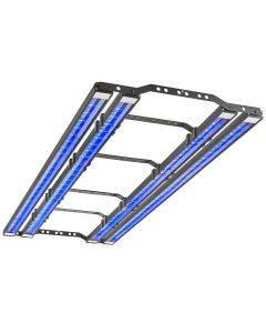 48 inch x series light fixture - underside angle shot, lit