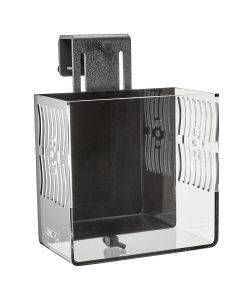CPR Aquatics Small CITR3 Pro DX In-Tank Refugium -3/4 view - black back and clear sides