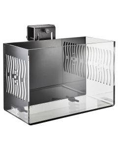 CPR Aquatics Large CITR3 Pro DX In-Tank Refugium - 3/4 view - black back and clear sides