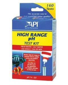 Freshwater/Saltwater High Range pH Test Kit, Test kit of 250 tests - API