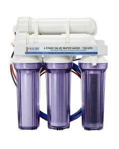 4 Stage Value 150GPD Water Saver RO/DI System