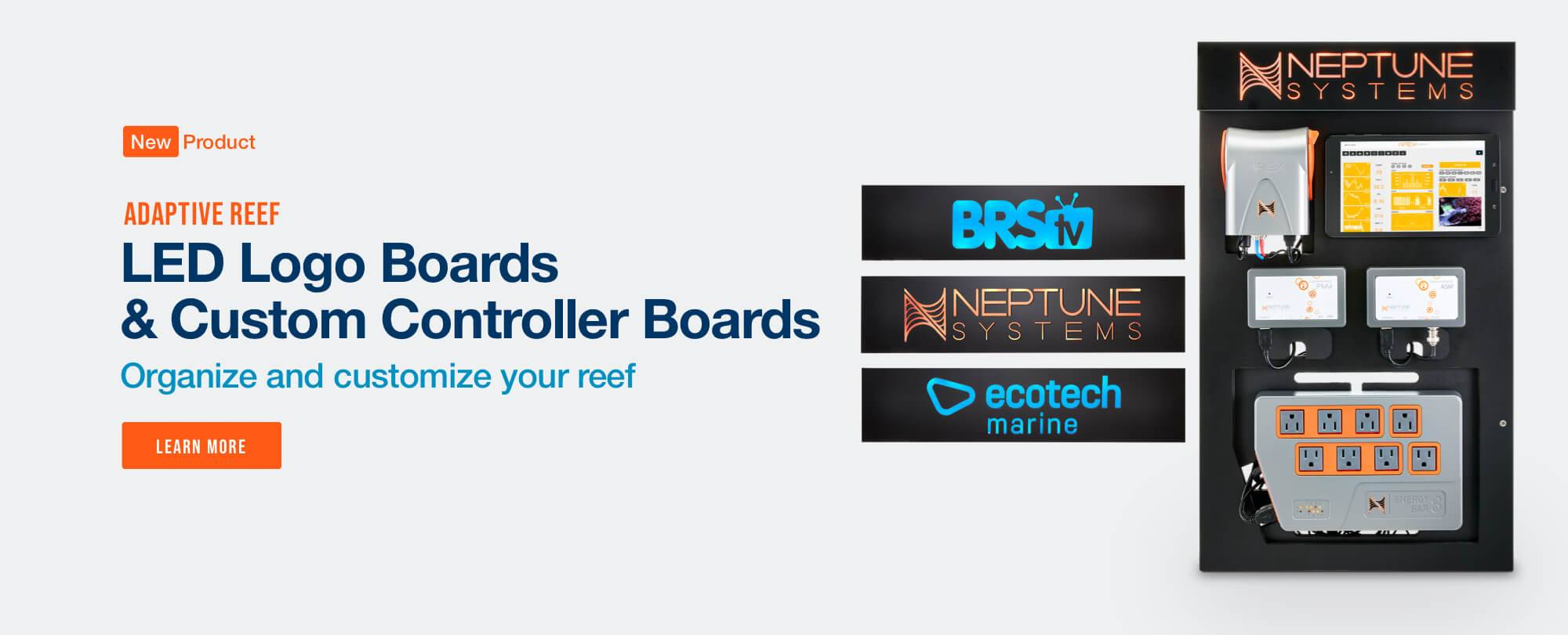 New Adaptive Reef Controller Boards with LED Logo's Now Available