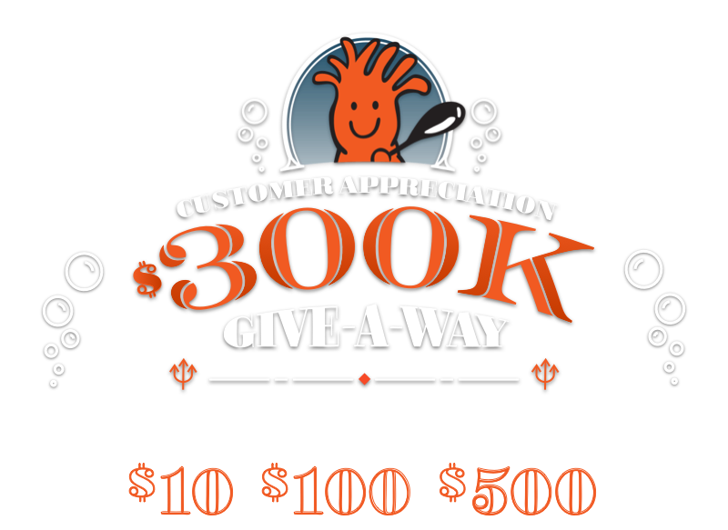Customer Apprecation 300k Give-a-way