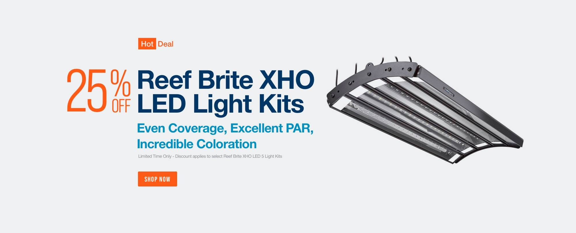 Save 25% Reef Brite XHO LED Light Kits - Even Coverage - Excellant PAR - Incredible Coloration