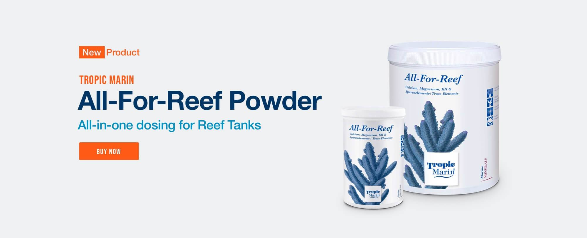 New Tropic Marin All-For-Reef Powder - Now Available at Bulk Reef Supply
