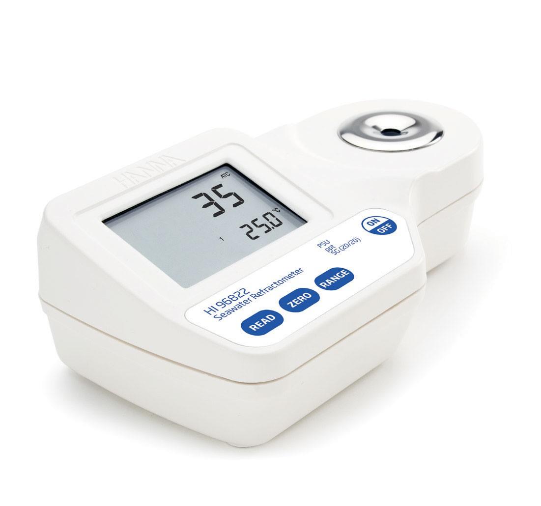 Digital Refractometer for Seawater Analysis HI96822