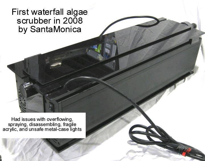 waterfall algae scrubber