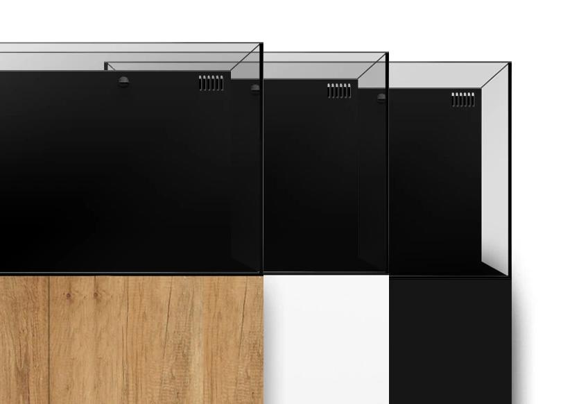 Waterbox AIO range displaying three cabinet colors