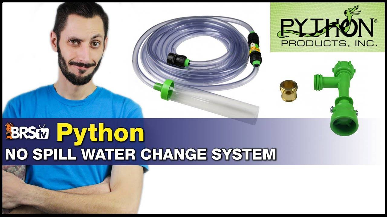 Python No Spill Water Change System : Stop carrying buckets for draining and filling your tank!