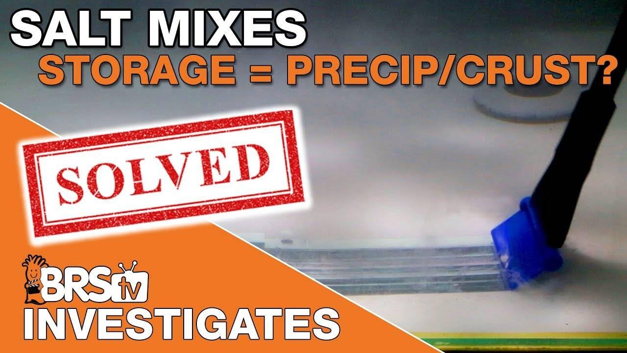 Do all salt mixes precipitate in saltwater storage bins? | BRStv Investigates