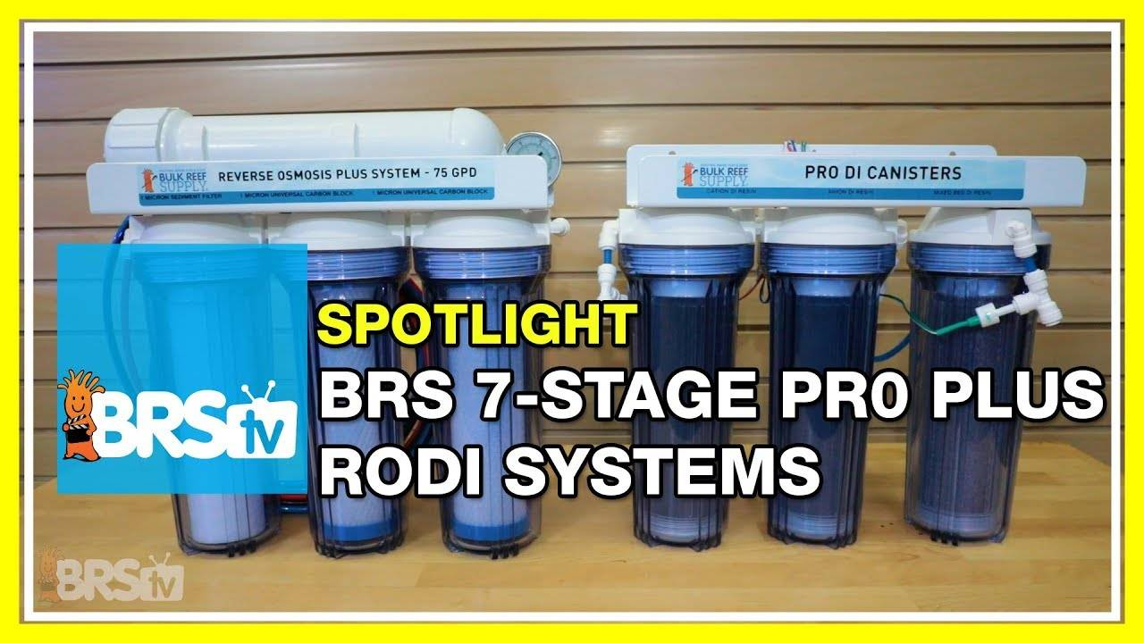 Filter your water like a PRO with the BRS 7-Stage Pro RODI - BRStv