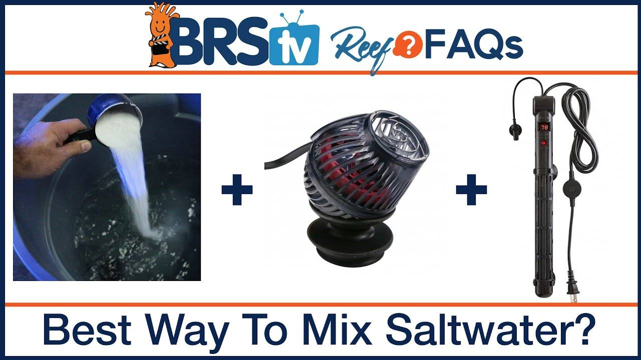 Mixing reef salt mix, the best method for the saltwater aquarium - FAQs