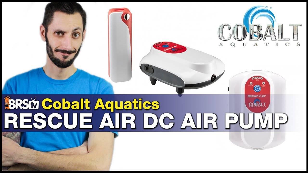 Cobalt Aquatics Rescue Air Pump - Backup Oxygen For Your Reef Aquarium or QT Tank Emergency