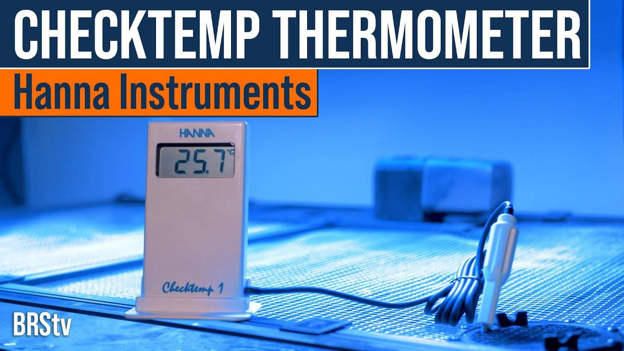 An Aquarium Thermometer You Can Calibrate With. It's That Good! Hanna Checktemp Thermometer