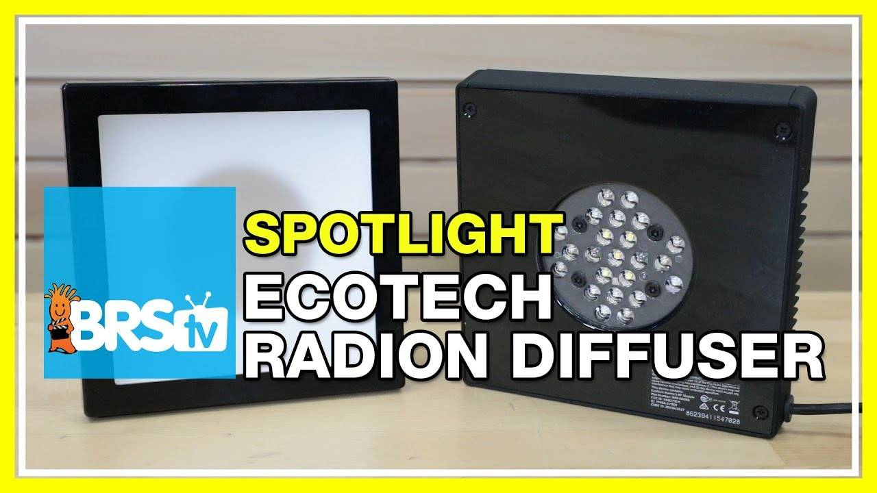 Next generation LED reef tank lighting with EcoTech Radion Diffusers - BRStv