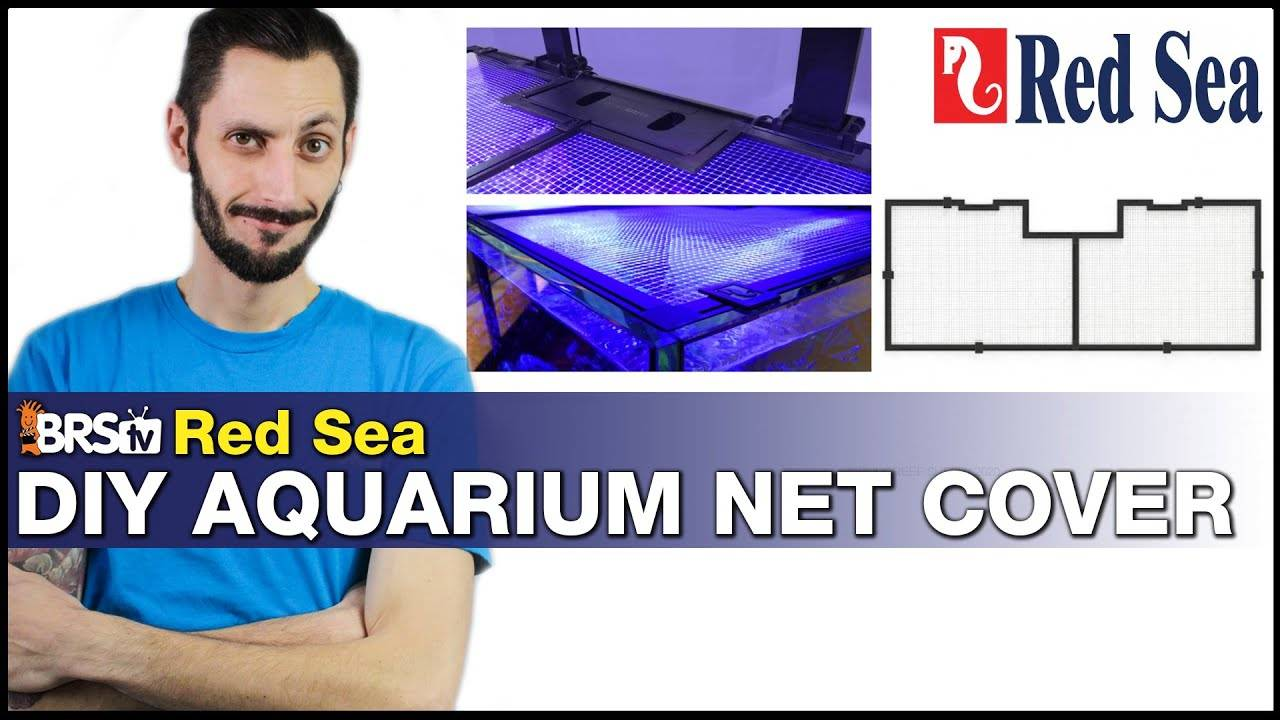 Red Sea DIY Net Cover: Our favorite aquarium screen top to keep fish in and tanks looking awesome!