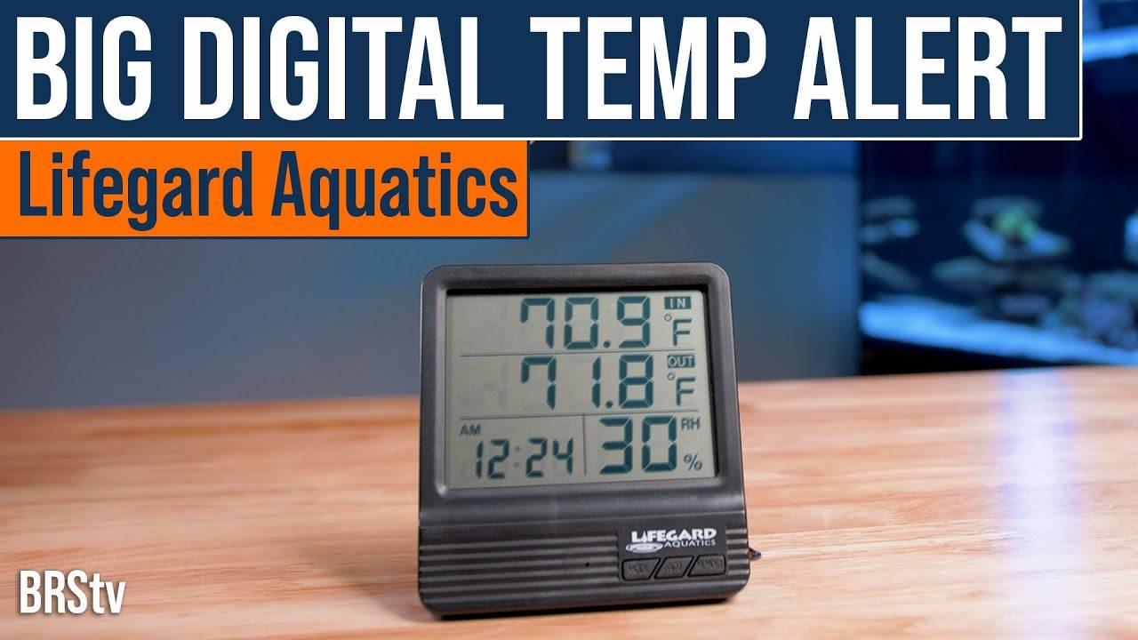 BRStv Product Spotlight - Lifegard Aquatics Big Digital Temp Alert Thermometer