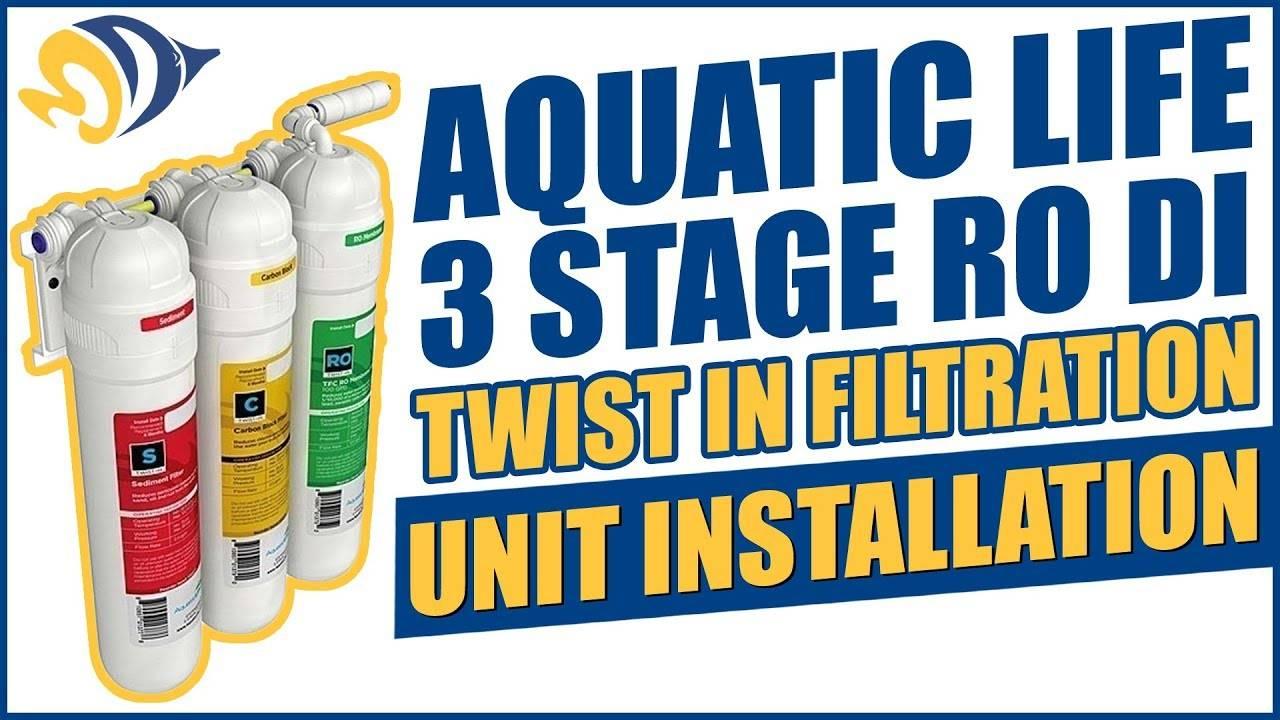 Aquatic Life 3 Stage RO Twist In Filtration Unit Installation