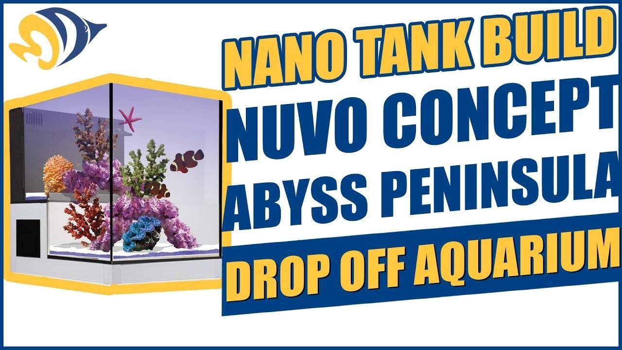 Nano Tank Build: NUVO Concept Abyss Peninsula Drop Off Aquarium
