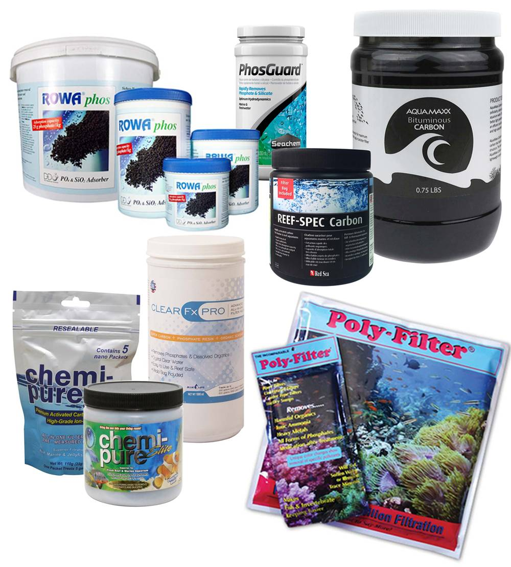 Assorted chemical media to improve water quality