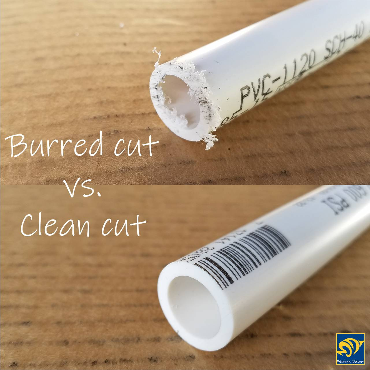during pipe cutting, the process can create rough edges which need to be cleaned up