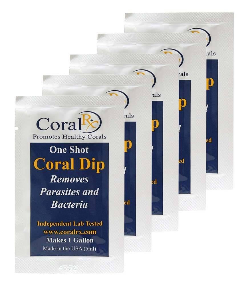 Example of coral dip in a one shot packet
