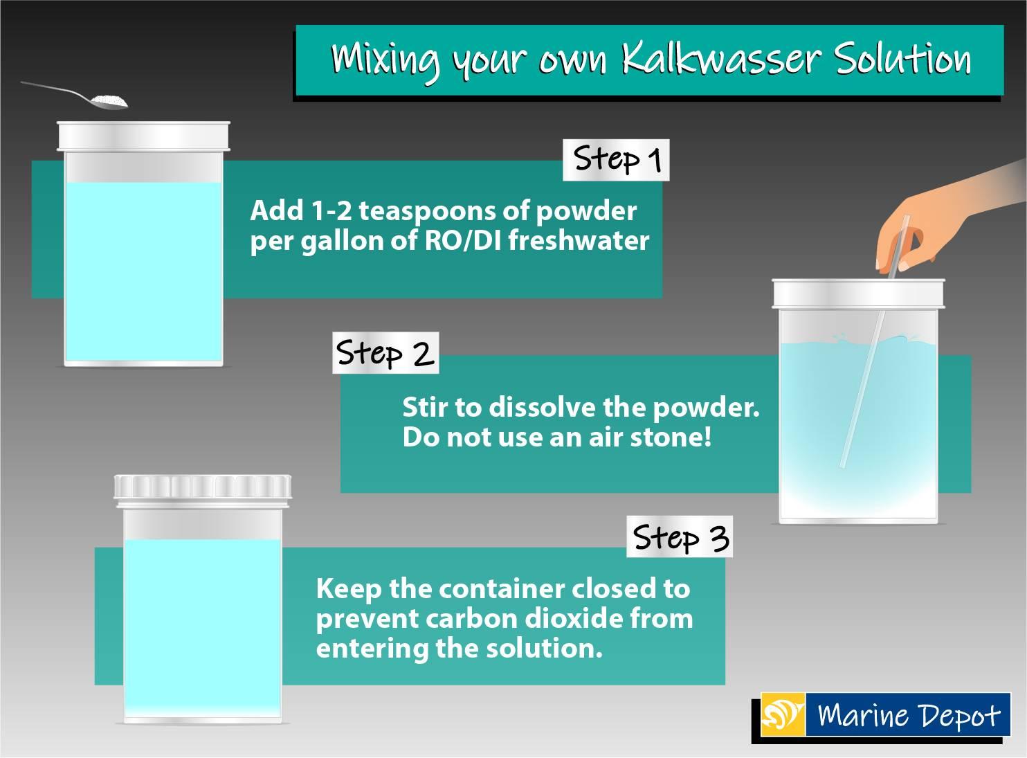 Mixing kalkwasser solution diagram