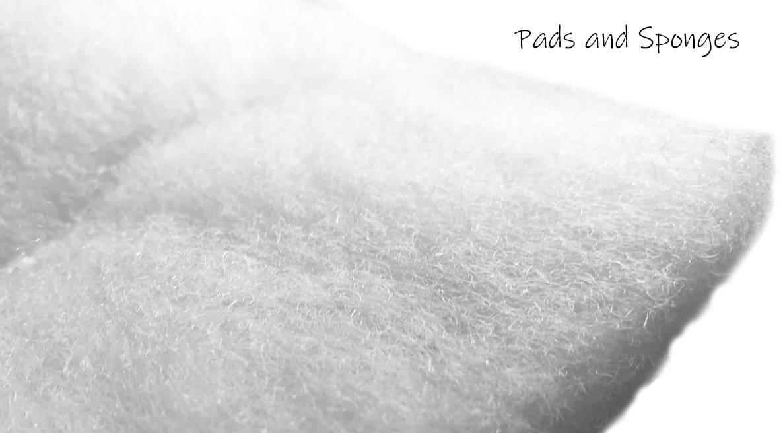 Close up shot of a filter pad
