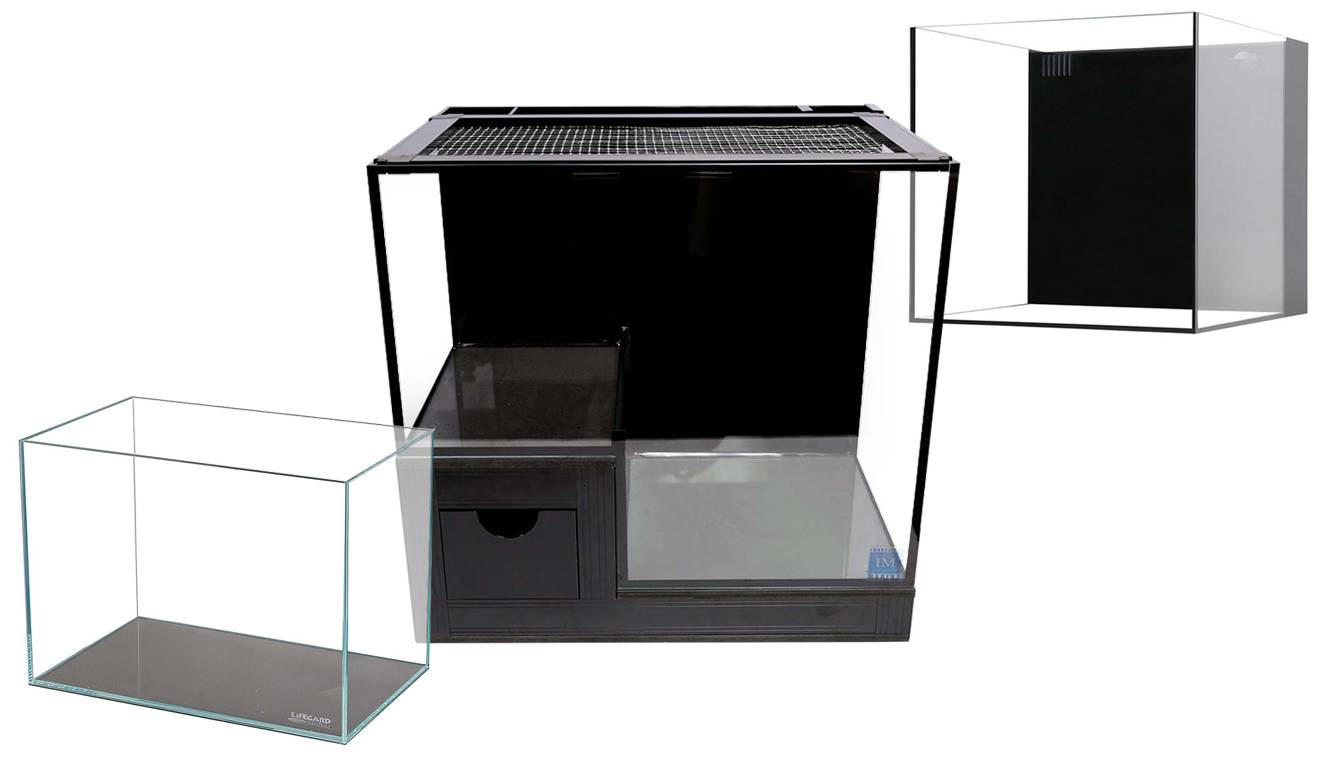 nano tank examples which can come with filtration built-in, including filter socks or media basket