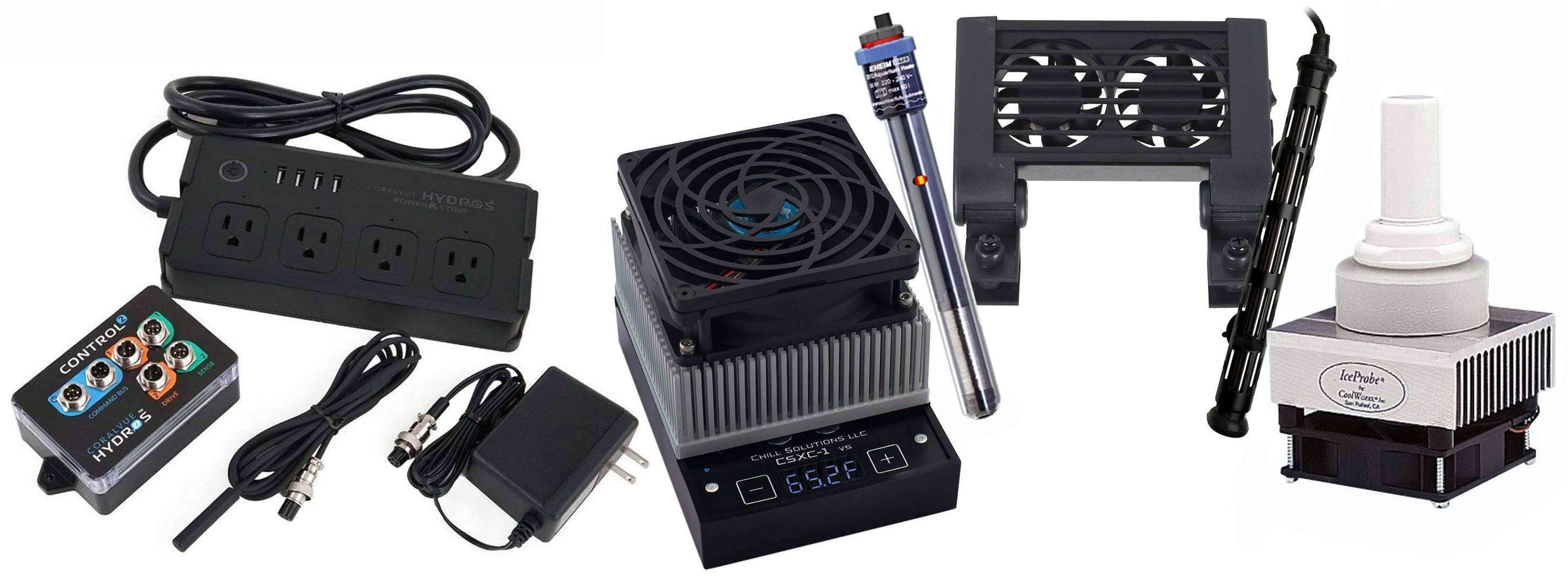 Chillers, heaters, and a controller to keep temperature parameters stable