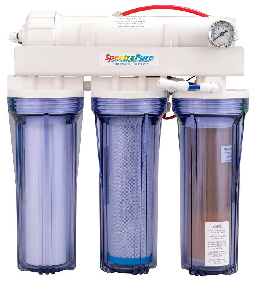 RO/DI system will remove silicates from the water using the TFC membrane and de-ionization cartridges