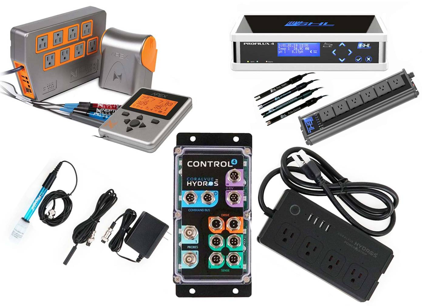 controllers that can help monitor and notify you if there are problems with the aquarium while you're on vacation