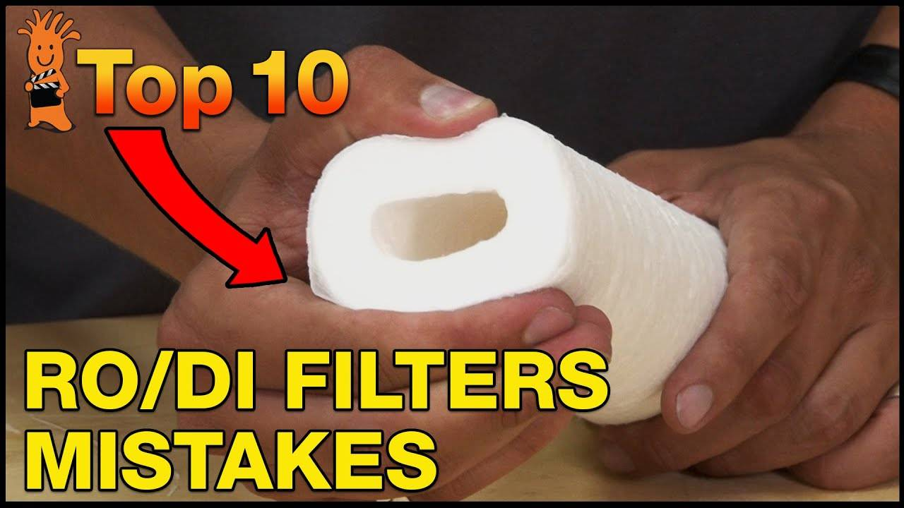 Top Mistakes Replacement RO/DI Filters