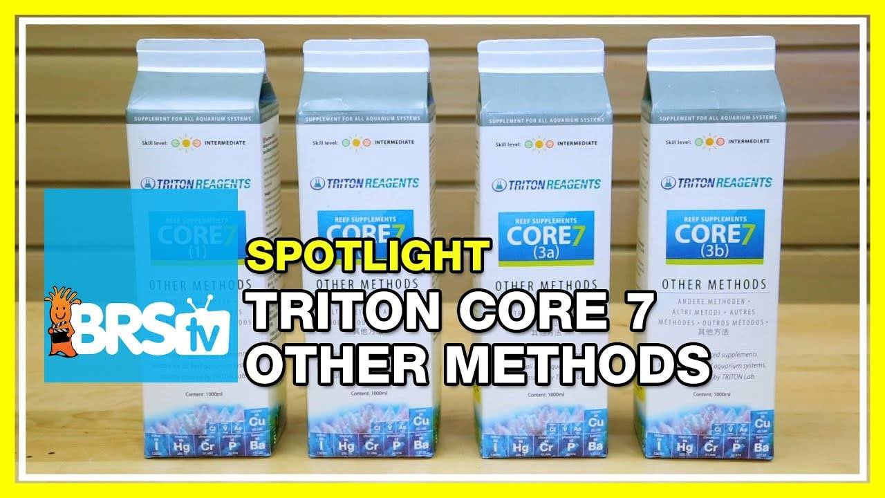 Spotlight on Triton Core7 Reef Supplements for Other Methods - BRStv