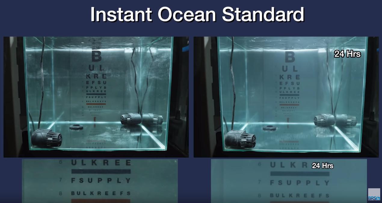 Saltwater Clarity Chart Instant Ocean