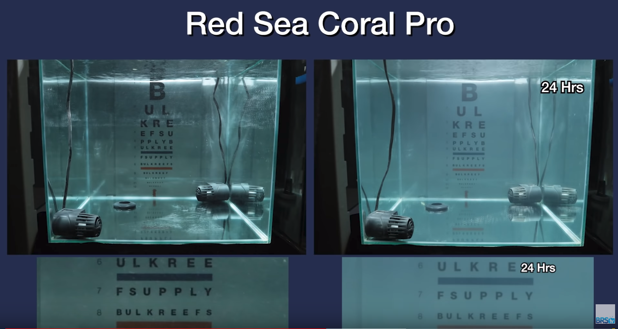 Saltwater Clarity Chart Red Sea Coral Pro